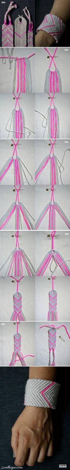 DIY-Flitter Webart-Armband DIY Handwerk Ideen einfach craftsDIY Ideen listig leicht DIY DIY Schmuck DIY Armband Handwerk Armband Schmuck diy