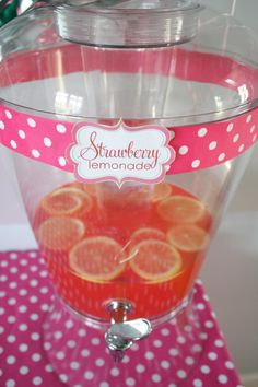 Strawberry Lemonade for a strawberry party
