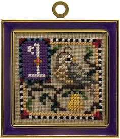 Just Nan - JN166 12 Days Of Christmas • Counted Thread Cross Stitch Designs from Just Nan  First day of Christmas