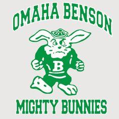 The Mighty Bunnies (Benson High School, Omaha, Nebraska) High School Mascots, Helmet Logo, Sports Logo, Nebraska, Bunny, Fictional Characters, Cute Bunny, Rabbit, Fantasy Characters