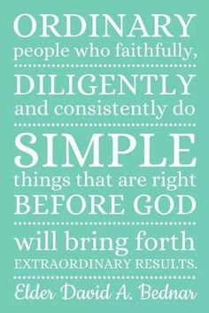 It's OK to be ordinary and simple