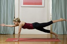 11. Plank pose, variation  http://www.womenshealthmag.com/fitness/yoga-abs-workout/slide/10