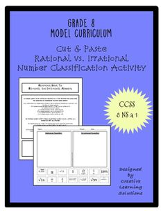 Free Classification Activity for Rational & Irrational Numbers