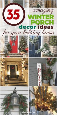 Looking for ways to create a festive look outside your house this winter? Check out this list of top winter front porch decor ideas for inspiration.