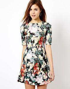 Image 1 ofWarehouse Floral Print Dress