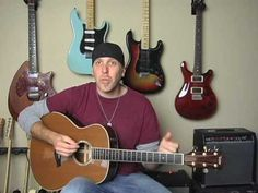 Acoustic guitar lesson add licks to strum patterns combine parts song technique on Taylor GS5