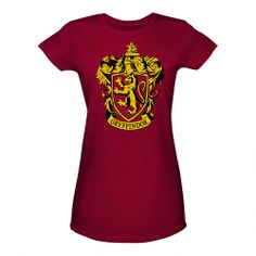 One of my favorite discoveries at HarryPotterShop.com: Gryffindor Crest Women's Fitted Red T-Shirt