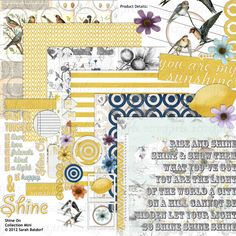 Shine On Digital Scrapbooking Collection Mini - Commercial License