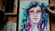 Watercolor abstract portrait speedpaint. :) FINISHED ARTWORK: http://fav.me/d6uula4 ------------------------------------------------------------------------...