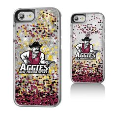 New Mexico State Aggies Gold Glitter iPhone 7 Case - $24.99