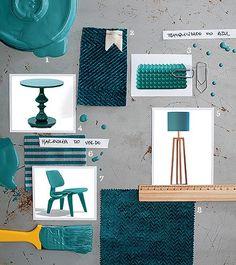 Verde que te quero azul - Um hibridismo entre a harmonia do verde e a tranquilidade do azul é a missão da cor Lagoa Particular, escolha da Tintas Coral para o ano que vem. Vai bem com madeira, fibras e tecidos naturais ou também com cinzas e metais.