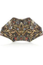 Alexander McQueenDe Manta printed silk clutch