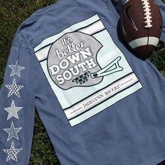 Football season is upon us once again! Grab this long sleeve 'It's Better Down South' tee and many more from @jadelynnbrooke online and in stores!  #shopPD #jadelynnbrooke #preppypeoplearehappypeople #football #south