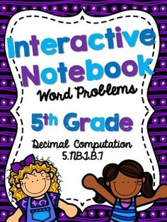 This product includes 14 word problems that align with CCS 5.NBT.B.7. Each word problem requires students to add, subtract, multiply or divide decimals. Some problems may be multi-step. Each page as the same question twice to save on copies. These questions can be used to glue in math notebooks for students to solve.