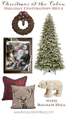 Christmas at the Cabin: Holiday Inspiration 2014 with @balsamhill