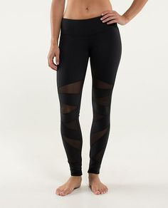 Tech Mesh Tights Lululemon - I own these in Navy Blue! Great for fashion but even better to run in!