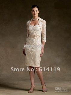Sexy Mother of the Bride Dresses Sheath/Column Free bolero Knee length Taffeta Applique Cocktail Dresses on AliExpress.com. 10% off $116.99