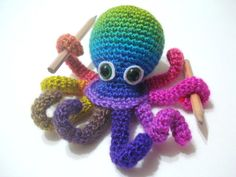 Free+English+Crochet+Patterns+Amigurumi | Crochet Tutorial Octopus Amigurumi Crocheted Octopus by AllSoCute