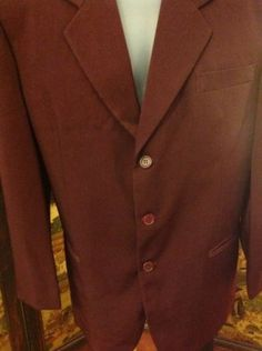 Men's Canella Italy Suit Jacket, Silk Size 40