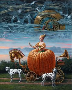 "Michael Cheval, Time to be a Queen (oil on canvas).  30""x24"", 2012."