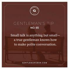 #GentlemansTips No. 65