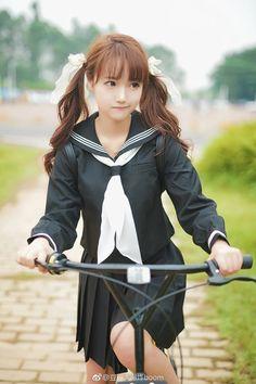 Japanese School Girl Cosplay 。✩˚。⋆♡⋆。ㅋㅋㅋ。✩˚。⋆♡⋆。 - School Girl Japan, Japan Girl, Cute School Uniforms, School Uniform Girls, Girls Uniforms, Cute Asian Girls, Beautiful Asian Girls, Cute Girls, Kawai Japan