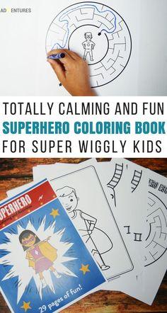 Calming Super Hero Book for Wiggly Super Heros