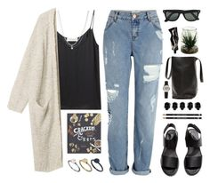 """""""Bye Highschool!"""" by tania-maria ❤ liked on Polyvore featuring River Island, Delfina Delettrez, Monki, ASOS, Crate and Barrel, Ray-Ban, Just Acces, H&M, D.L. & Co. and Aesop"""