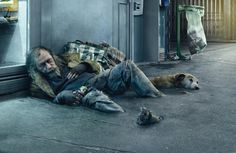 Asile is a photo retouching and studio based in Paris, France founded by Photoshop Artist, Christophe Huet. Their CGI and creative photo retouching work is some of the best that you will. Homeless People, Homeless Man, Homeless Veterans, Social Campaign, Advertising Campaign, Photomontage, Labo Photo, Asile, Socialism