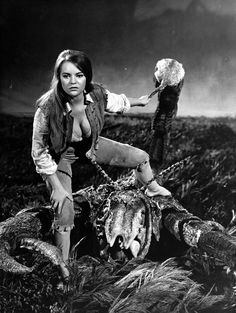THE LOST CONTINENT! Dana Gillespie stars as the mysterious Sarah.... I LOVED this movie as a kid--so damned weird.  Have to break down and spend big bucks for the overpriced out of print DVD someday soon.