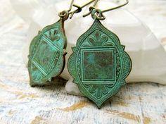 Bohemian earrings Moroccan Ethnic earrings patina dangle earrings boho Bohemian Jewelry  Magazine Featured