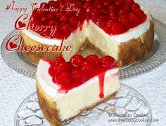 Happy Valentine Cherry Cheesecake