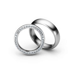 Henrich + Denzel - Acanto Trauringe - 950 Platin - Diamanten +++ Henrich + Denzel - Acanto Wedding Rings - 950 Platinum - Diamonds