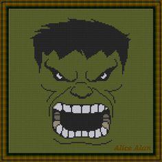 Hulk superhero Marvel Comics TV series films by HallStitch on Etsy