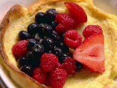 Tri-Berry Oven Pancakes Recipe | Ina Garten | Food Network