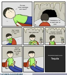Family time can be tough, but be careful of Tequila.