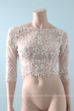 Items similar to Modern Bride Beaded Silver Lace Super Bling Jeweled Sleeves Wedding Bolero With Low Back, Lace bridal Top on Etsy Bridal Tops, Bridal Lace, Lace Bolero, Rustic Wedding Dresses, Wedding Ideas, Feather Dress, Marie, Lace Dress, Short Dresses
