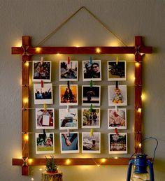 Diy Crafts For Home Decor, Diy Crafts Hacks, Diy Crafts For Gifts, Diy Arts And Crafts, Diy Wall Decor For Bedroom, Cute Room Decor, Diy Wall Art, Photo Frame Crafts, Picture Frame Decor