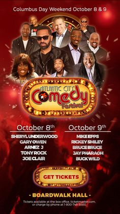 I'm giving away tickets! Listen to my show Monday, Weds, Fridays 10a-2p Lady LinQ Radio Powered by  www.liveanddirectradio.com Rickey Smiley, Columbus Day Weekend, Radio Personality, Get Tickets, Atlantic City, Comedy, Friends, Lady, Fun