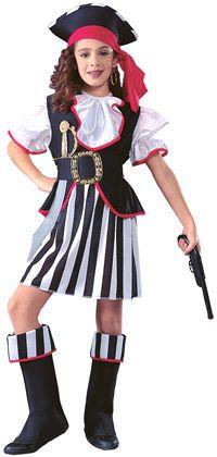 Lasten Naamiaisasu; Piraatti Prinsessa. Hii-o-hoi, Piraatti Prinsessa lähtee merille ja laittaa helmat heilumaan! Sisältää: - Hatun - Paidan liivillä - Vyön - Hameen - Kengänpäälliset