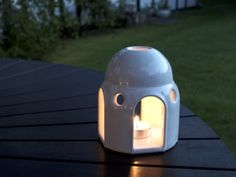 Dome Lantern - Small version in Gloss White Porcelain