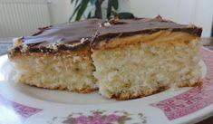 Jak upéct řezy na plech s kokosem | recept Vanilla Cake, Pudding, Custard Pudding, Puddings, Avocado Pudding
