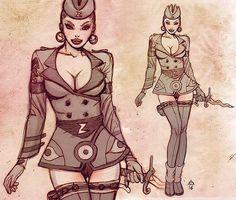 Karol - concept sketch  #alessandroscacchia #project #sketch #characterdesign #girl #uniform #art #comics #dagger #symbols #drawing