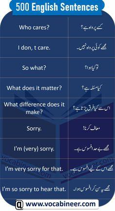 English To Urdu Dictionary, Slang English, English Phrases, Learn English Words, English Learning Books, English Speaking Skills, English Learning Spoken, English Language Learning, Simple English Sentences