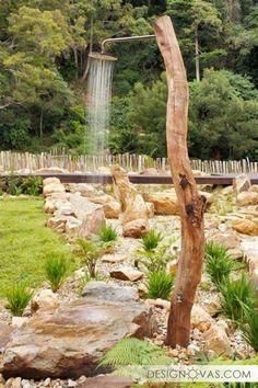 Летний душ для дачи - 45 фото потрясающих идей |  #душ Красота