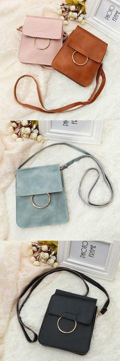 US$6.97 Girls Vintage Solid Color Crossbody Bag_ Smartphone Bag_ Little Shoulde Bag