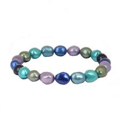 http://www.bengarelick.com/collections/honora-pearls/products/honora-peacock-baroque-violet-pistachio-indigo-teal-and-jet-freshwater-cultured-pearl-stretch-braceletHonora Peacock Baroque Violet, Pistachio, Indigo, Teal and Jet Freshwater Cultured Pearl Stretch Bracelet.