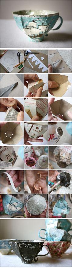 DIY :: paper mache teacup ( http://annwood.net/blog/2011/02/24/paper-mache-teacup-pattern/ )