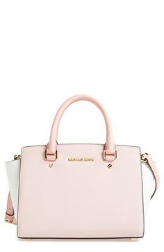 MICHAEL Michael Kors 'Medium Selma' Tricolor Leather Satchel available at #Nordstrom