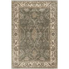 Safavieh Royalty Hand-Woven Wool Grey / Cream Area Rug (4' x 6') (ROY993A-4), Size 4' x 6'